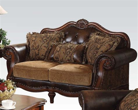 traditional loveseats traditional loveseat dreena by acme furniture ac05496
