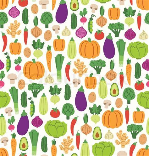 vegetables pattern wallpaper flat vegetables seamless pattern stock vector colourbox