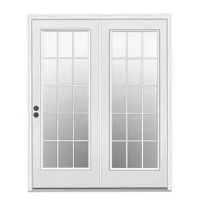 Patio Doors With Built In Blinds Prices by Reliabilt 22459 Garden Low E 15 Lite Steel Center Hinged