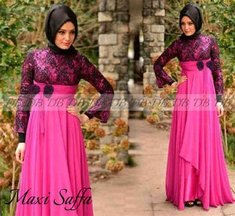 Dress Spandek Melisa Benhur M baju gamis pesta brukat p635 murah model terbaru
