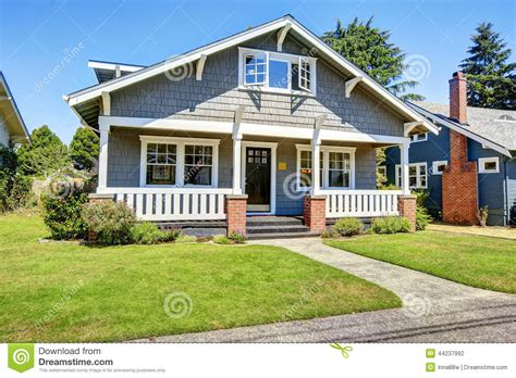 siding with mr house clapboard siding house exterior large entance porch with brick stock photo image
