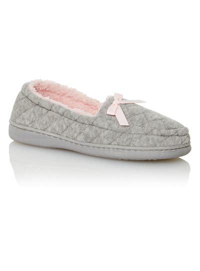 sainsburys slipper boots womens grey velour slippers tu clothing