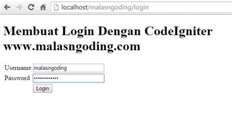 tutorial membuat crud dengan ci membuat login dengan codeigniter malas ngoding