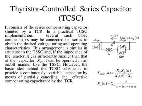 thyristor controlled series capacitor nptel series shunt compensation and facts devices