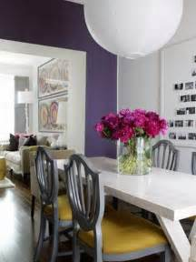 Purple Dining Rooms by Modern Purple Dining Room Dining Room Pinterest