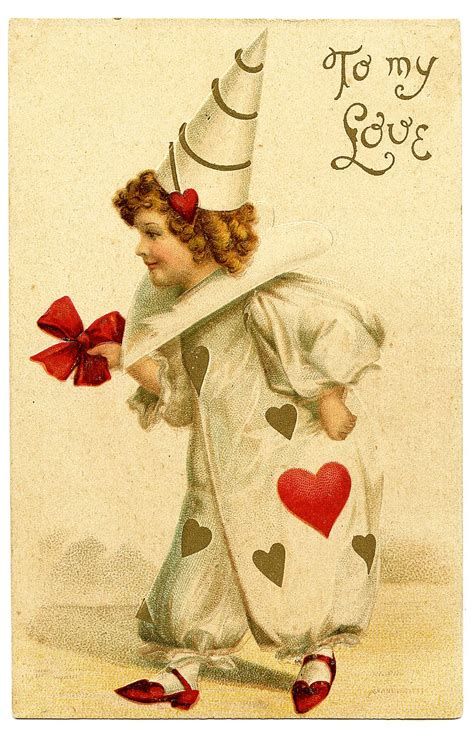 vintage valentines day images vintage s day clip clown