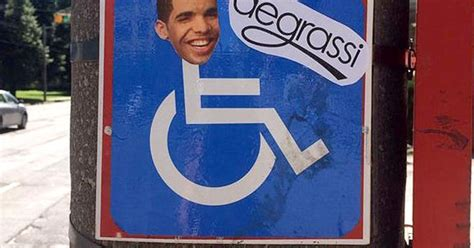 Drake Meme Wheelchair - drake s face plastered on wheelchair signs in toronto