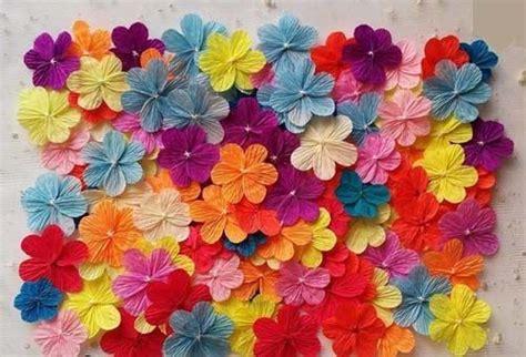 flores de crepe sencillas como hacer flores sencillas pero bonitas con papel crepe