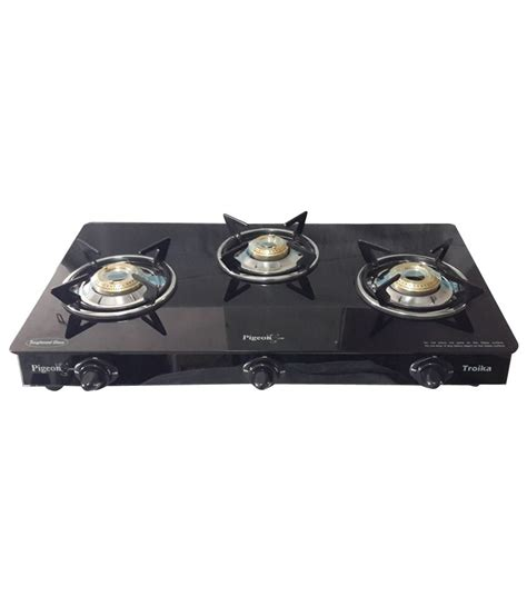 Portable Stove Bird pigeon troika three burner gas stove manual price in india