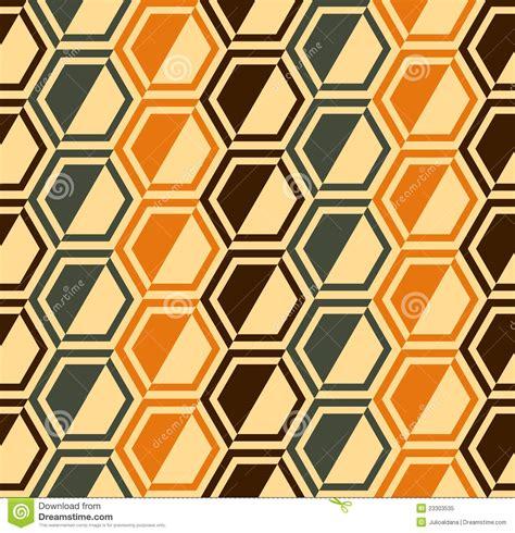 seamless hexagon pattern vector hexagon seamless pattern retro colors vector stock