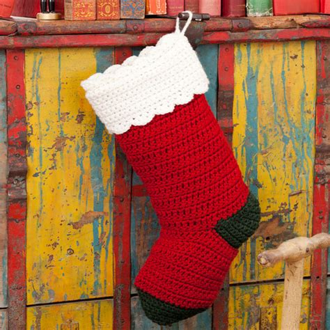 crochet pattern christmas stocking free crochet christmas stocking pattern red heart