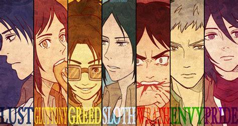 the seven deadly sins 24 seven deadly sins the snk seven deadly sins this seems pretty accurate