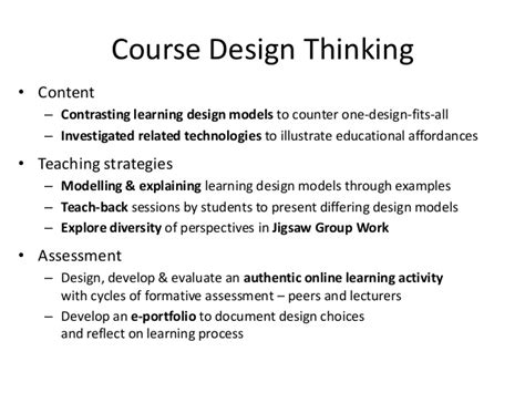 design thinking masters cultivating learning design thinking with eportfolios in a