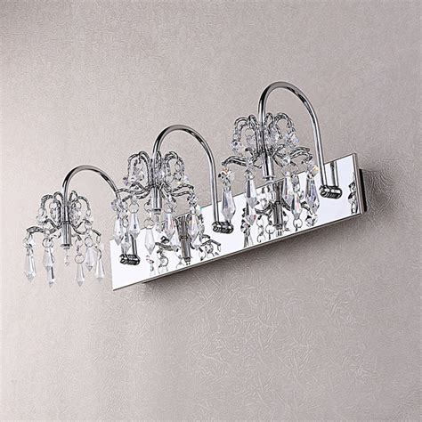 crystal vanity lights bathroom ovida chrome crystal bath vanity light modern bathroom