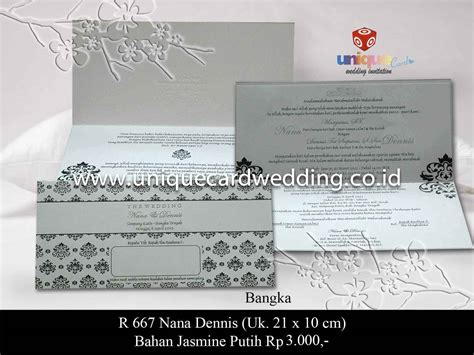Undangan Pernikahan Wedding Invitation undangan pernikahan nana denis unique card wedding invitation produk