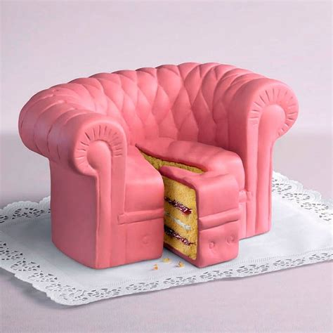 pink sofa chair cake cakes wallpaper