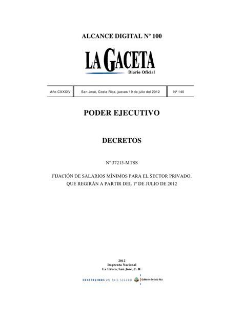 decreto de salarios minimos segundo semestre 2016 costa rica mtss salarios autos post