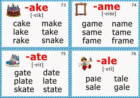 phonics flashcards printable phonics flashcards long a vowel words school ideas