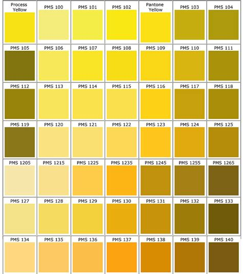 pantone yellow pantone color guide for apparel printing racer ink