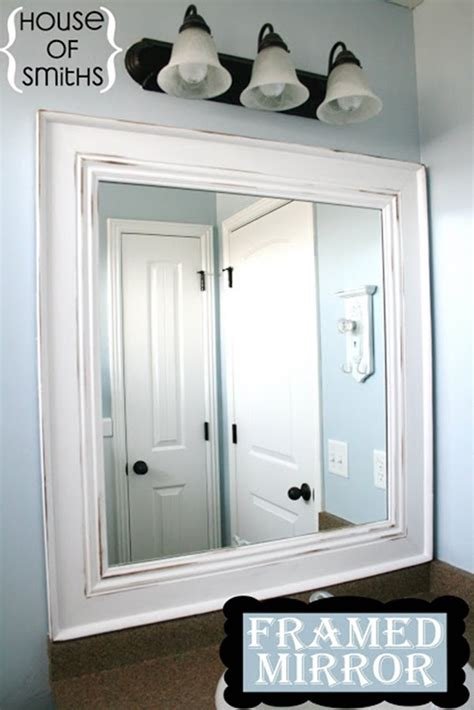 10 Diy Ideas For How To Frame That Basic Bathroom Mirror Frame Bathroom Mirror Diy