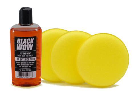 Trim Restorer Back To Black Original black wow exterior trim restorer black trim dressing