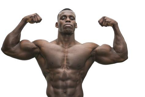 attractive hunky black male bodybuilder posing jay harold