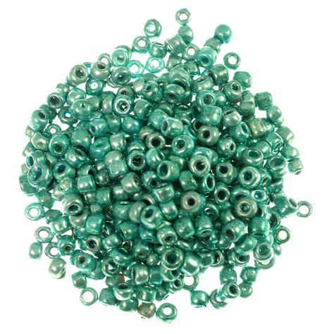 aqua bead india seed bead metallic 6 0 aqua