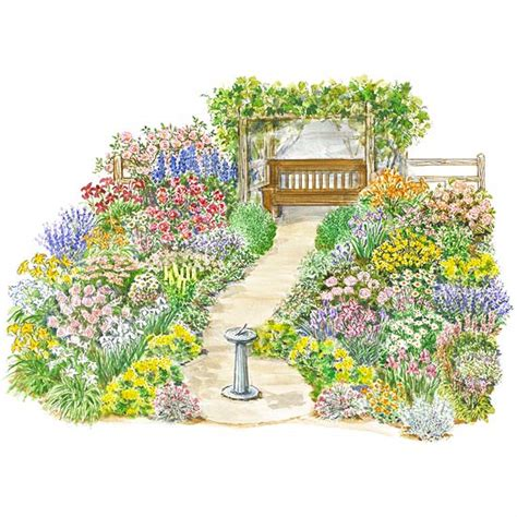 cottage garden plans free heirloom garden plan