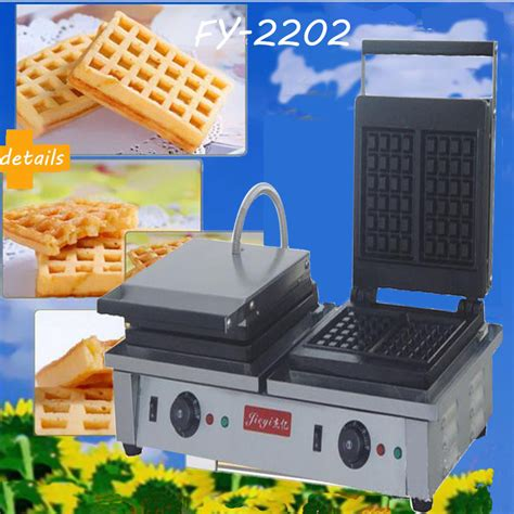 Oven Waffle 1pc electric end waffle machine commercial square