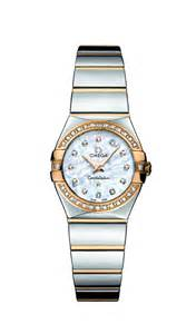 omega constellation ladies diamond set 18ct gold and