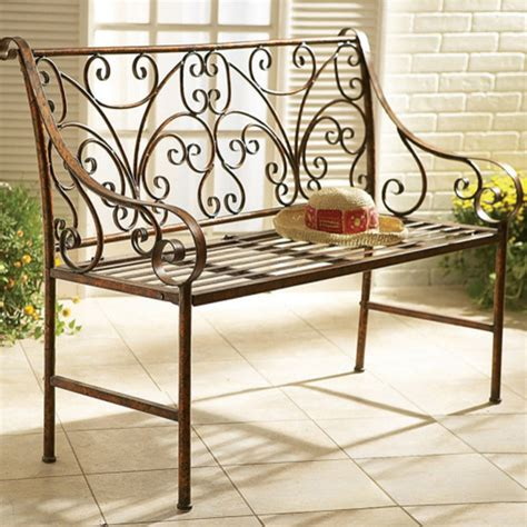 patio furniture bench scroll garden bench mediterranean patio furniture and