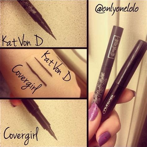 kat von d tattoo liner vs dupe alert kat von ds tattoo eyeliner 18 vs covergirls