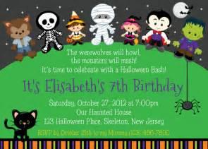 halloween birthday party invitations birthday party