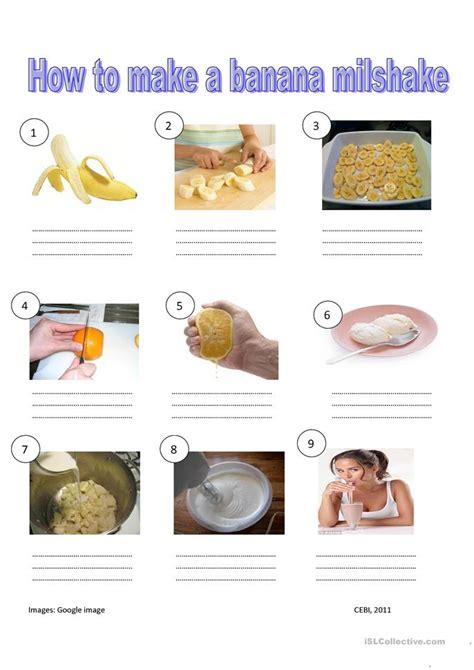 how to make banana milkshake worksheet free esl printable worksheets made by teachers