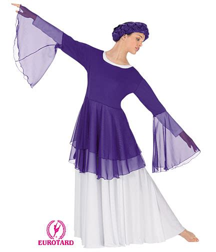 Balet Baju Balet Modern Tarian Tamborin praise dancewear worship attire fashions
