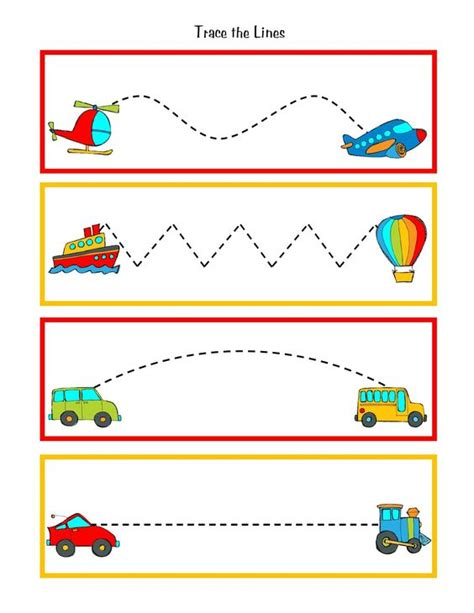 printables for kindergarten centers great to practice pre writing skills during transportation