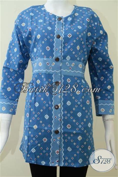 Warna Baju Ihram Wanita baju batik wanita warna biru elegan trend motif batik corak jumputan bls1304p m toko batik