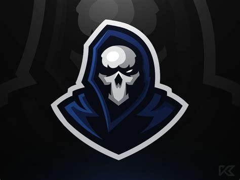grim mascot logo art logo skull logo logo design