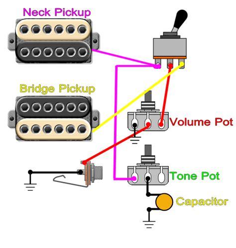 one humbucker volume pot wiring diagram gibson humbucker