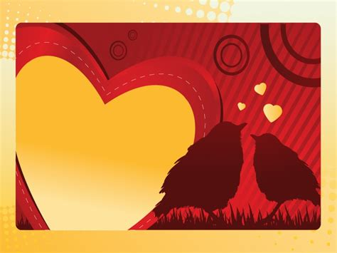 background themes about love love birds powerpoint templates border frames love