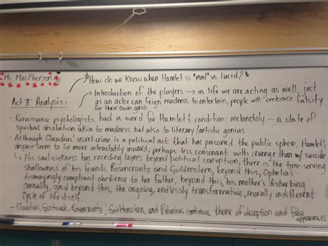 hamlet themes and explanations insanity quotes act 1 hamlet quotesgram