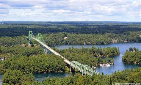 1000 island skydeck view canada a bird s eye view from the 1000 islands skydeck tower