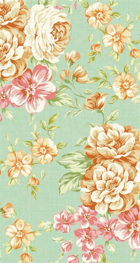 girly vintage wallpaper for iphone iphone 5 wallpapers vintage flower print 3 wallpaper