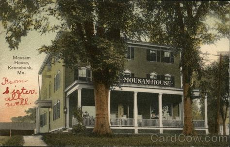 mousam house kennebunk me postcard
