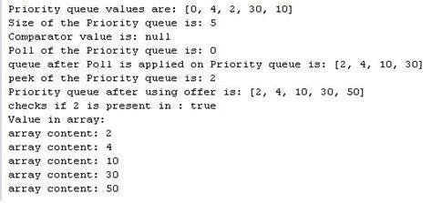 java tutorial queue java priorityqueue class exle