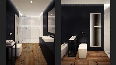 Luxury Small Bathroom Ideas Black White Loft Bathroom Interior Design Ideas