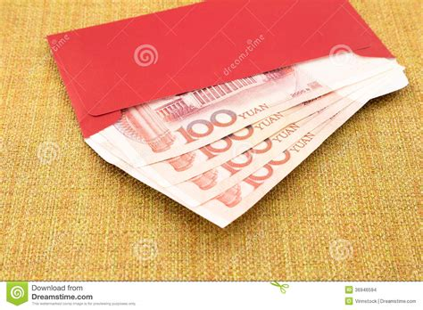 new year envelope married yuan banknote and envelope stock photo image 36946594