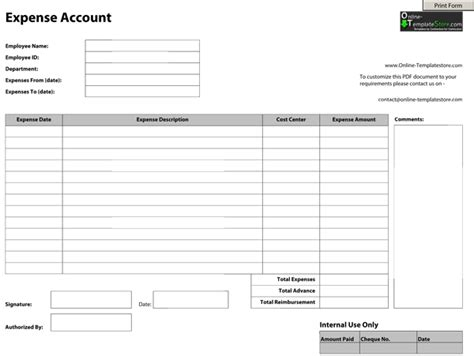 sle expenses claim form
