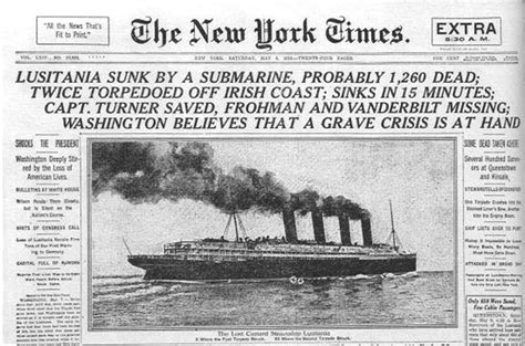 Sinking Of The Lusitania Newspaper Article the sinking of the lusitania aprendemos academy