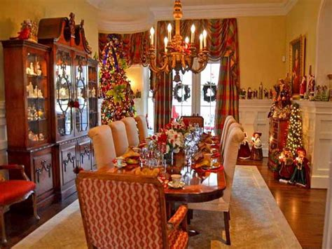 christmas decorations for dining room table home design